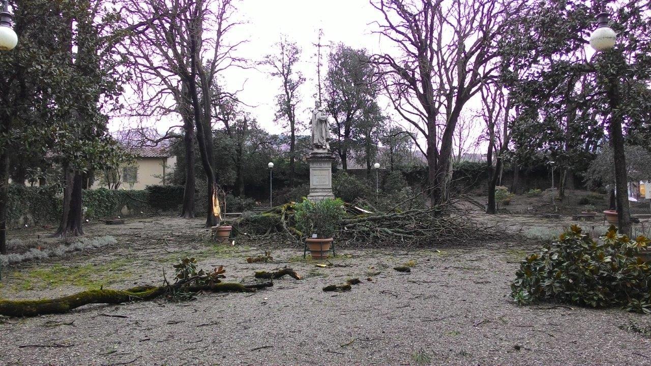 sansepolcro- giardino pubblico piero della francesca 3-2015 foto luigi falsconi
