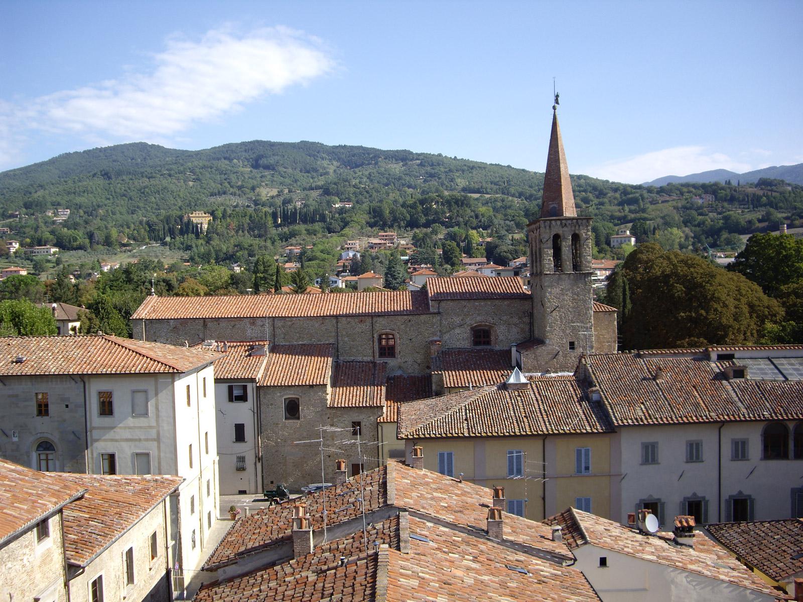 sansepolcro- veduta tetti centro storico