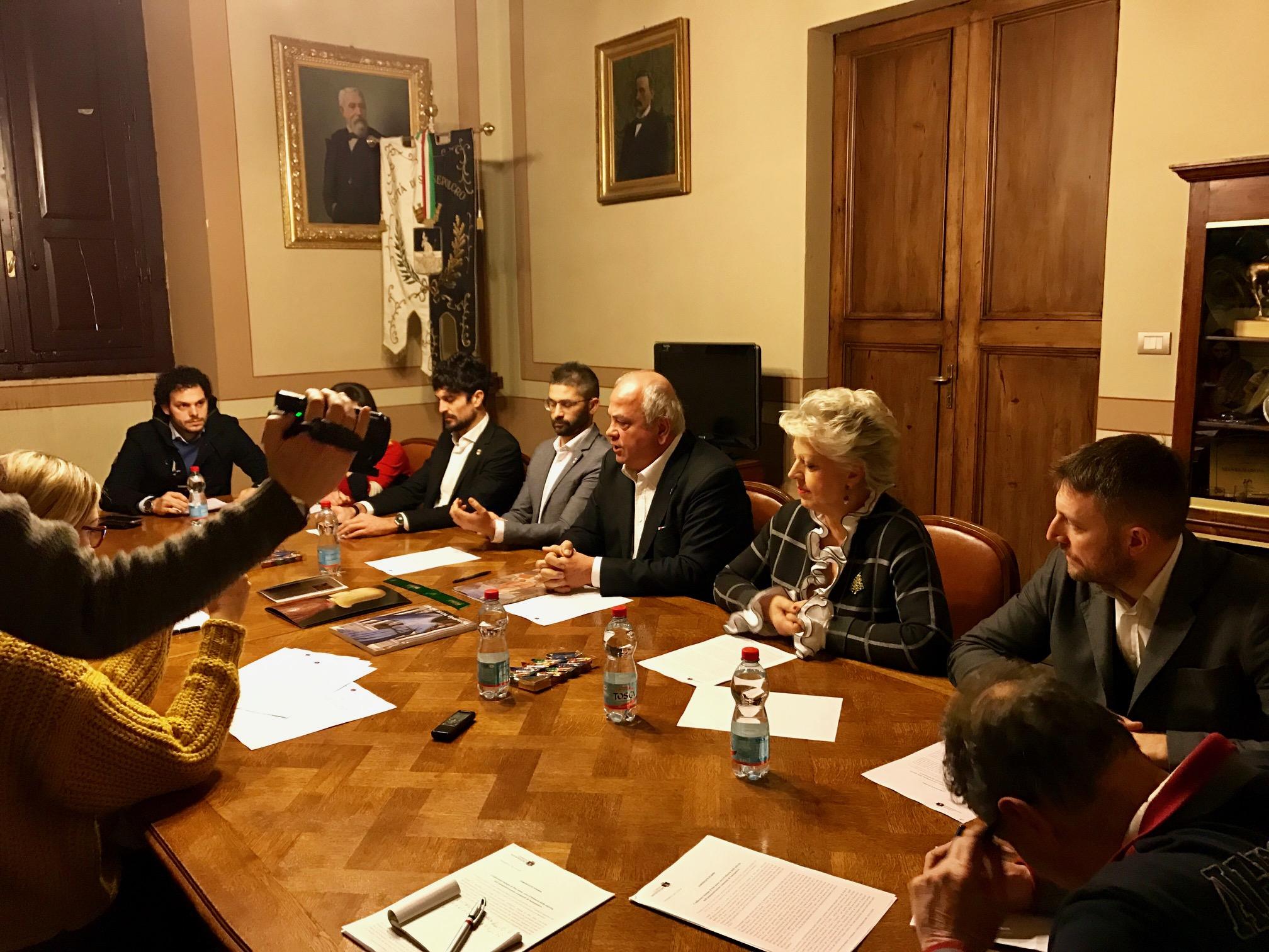 conferenza sindaco mauro cornioli giunta presidente consiglio comunale
